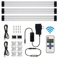 3pcs/set smd 2835 IR remote control Dimmable Under Cabinet Light Kitchen Light LED bar light 3*0.3m*33LEDs Hard Rigid Bar