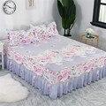 Домашний текстиль покрывало cubrecama Покрывало Постельное белье юбки для кровати цветастые покрывала постельное белье 1 8/1 5/1 2 метра.