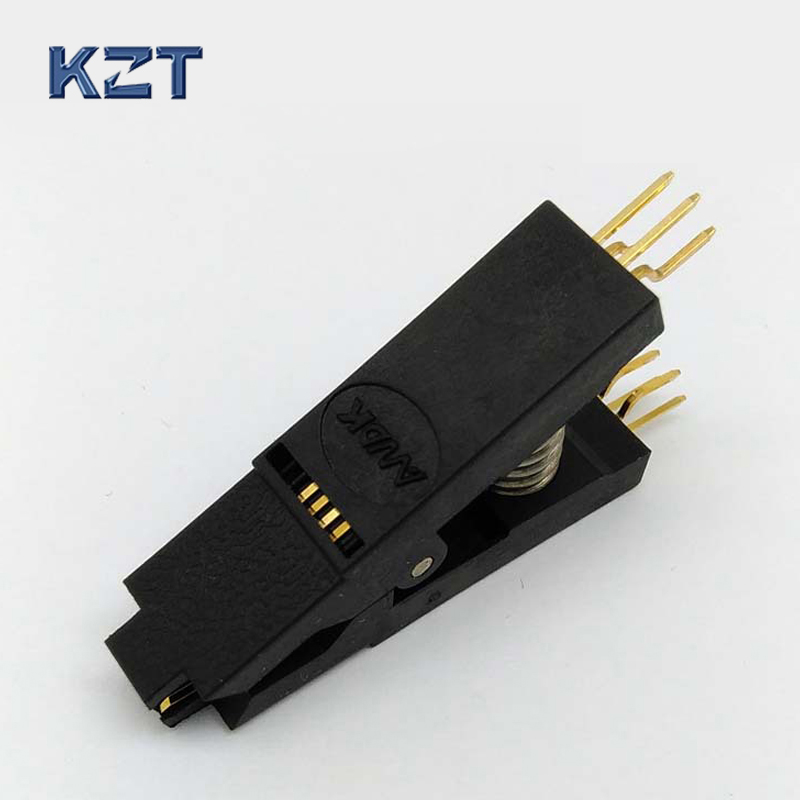 BIOS SOP8 SOIC8 Bent Original Test Clip Pin Pitch 1.27mm Universal Body For EPROM Programming Clip Test Suitable for Dupont Line 20 шт sop8 so8 soic8 smd dip8 адаптер печатной платы конвертер двойной сторонам несокрушимая