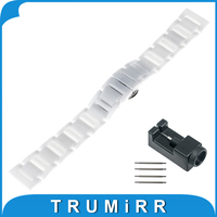 18mm 20mm Full Ceramic Watchband For Omega Watch Band Wrist Strap Replacement Link Bracelet Upgraded Tool