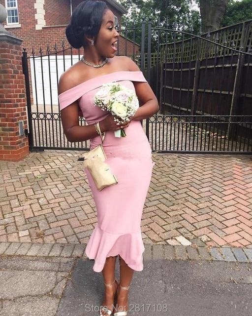 2017 Vintage Vestidos de Dama De Negro Africano Niñas Vestidos ...