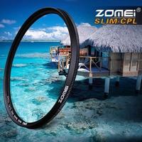 Zomei 49/52mm/55mm/58mm/62mm/67mm Ultra Slim CPL Filter Circulaire Polarisator Filter voor Canon Nikon Sony Pentax DSLR Camera Lens