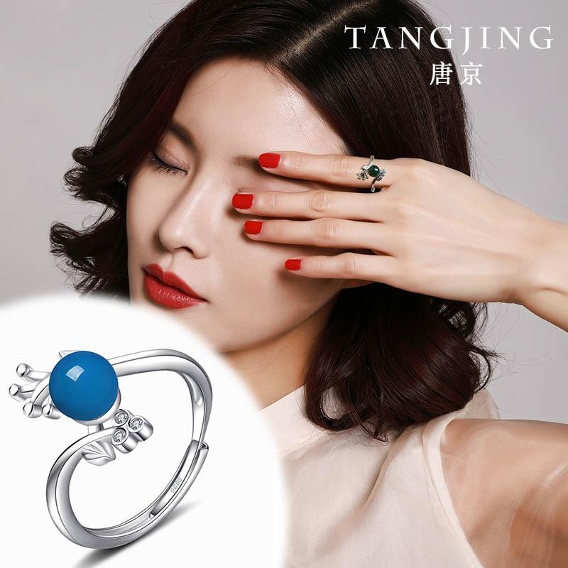2020 haut à la mode vraies femmes anniversaire Anel anneaux Anillos naturel mexicain potier anneau S925 avec bouche mobile avec certificat