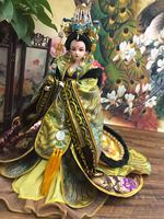 12 Handmade Collectible Chinese Empress Wu Zetian Dolls With Exquisite Makeup Vintage BJD Girl Doll Tang