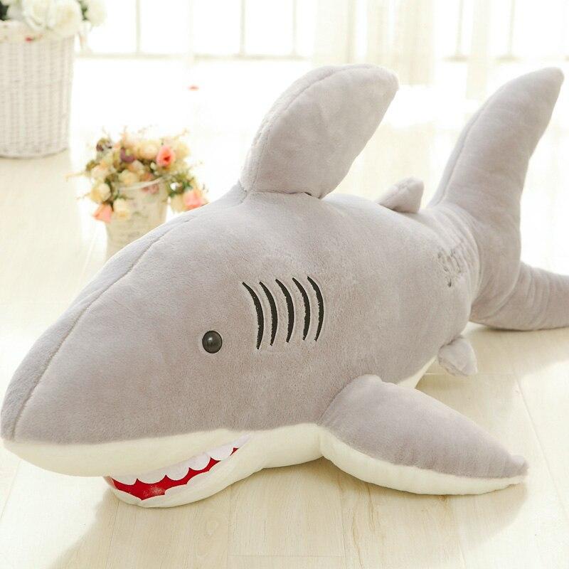 100 см гигантские акулы Плюшевые игрушки куклы для детей чучело Белая Акула подушка для влюбленных подарок