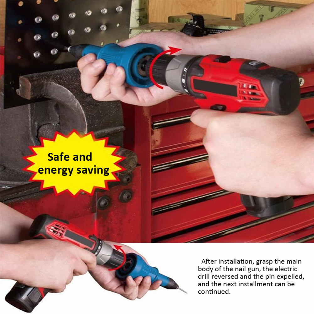 Threaded Rivet Gun Core Rivet Nut Riveting Tool For Drill Electric Screwdriver Tools Cordless Rivets Drill Adapter Nut-tool