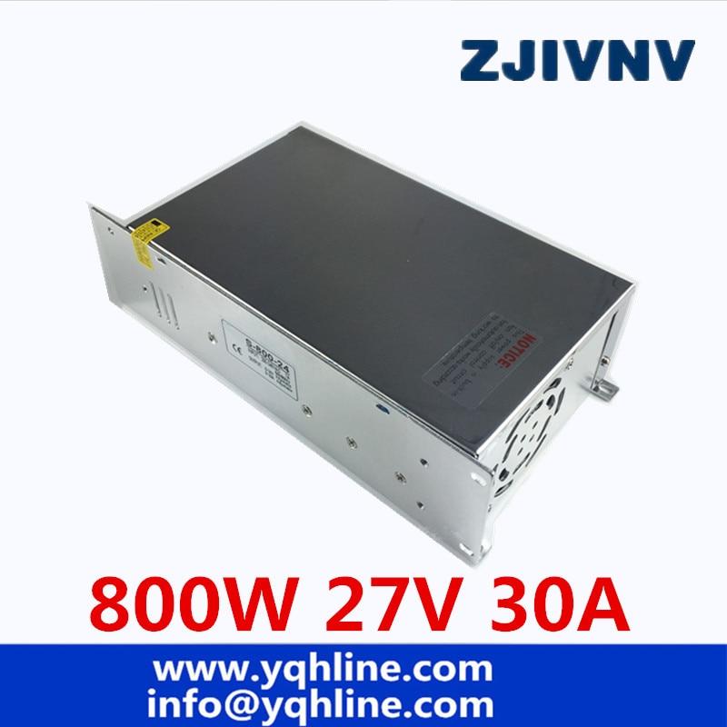 800W 27V 30A Single Output Switching Switch power supply Transformer 110V 220V AC TO DC 27V SMPS for LED Light CNC Stepper CCTV