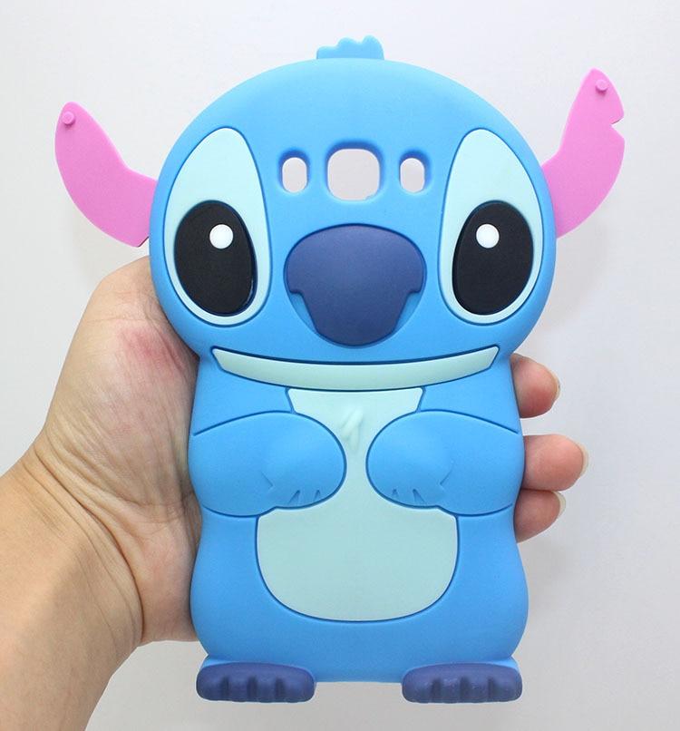 3D Cute Cartoon Funny Stitch Soft Silicon Phone Back Case on For Samsung Galaxy 2015 J1 J2 J3 J5