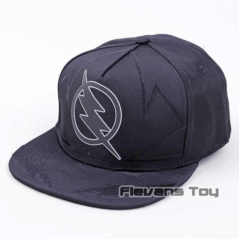 7d5fc9bb95193 Cool moda marca DC Comics Flash negro gorra de béisbol de algodón gorras  Hip Hop Snapback