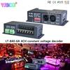 LT-840-6A; DMX/RDM 4CH CV constant voltage decoder For RGB RGBW led lamp light,DC5V-24V input;6A*4CH 4 channel output