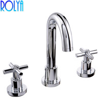 Classic Dual Handles 8 Inch Lavatory Widespread Faucet Bathroom Sink Mixer Taps