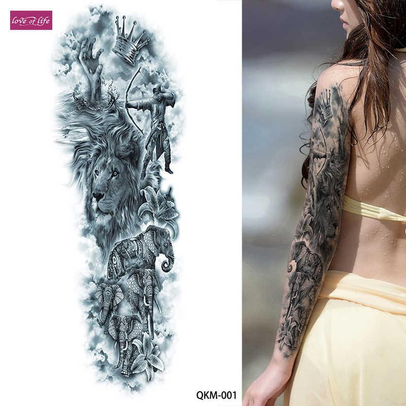 1 cái Orion Hy Lạp Cổ Đại Thần Thoại Hình Xăm Tạm Thời Đầy Đủ Arm Chân Eo Nghệ Thuật Tattoo Beauty Chiến Binh Sticker