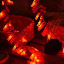 Праздничное освещение 2 м 10Led светодиодная гирлянда батарейный блок декоративная светящаяся гирлянда огни