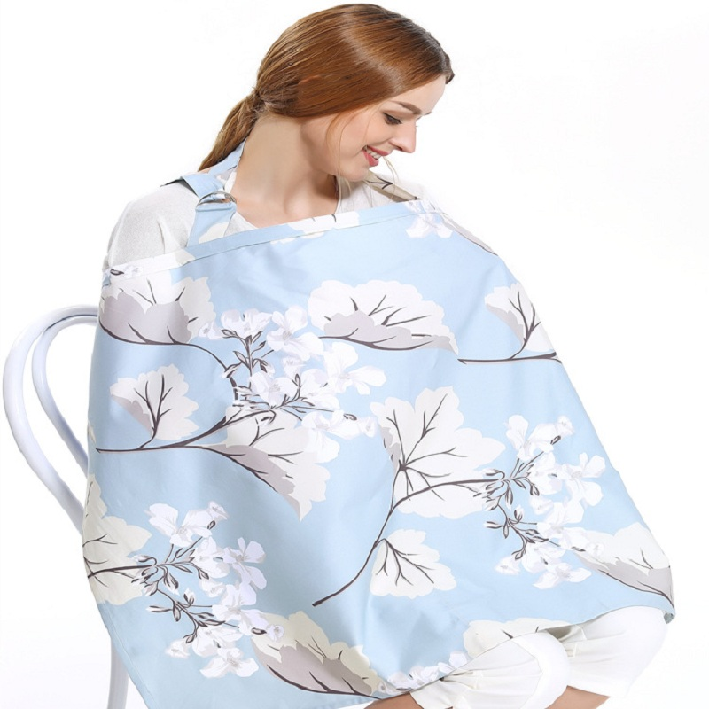 Breathable breastfeeding cover 100%cotton muslin Mother feeding babys apron Mommys outdoors feeding baby breast nursing cover
