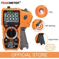 Multímetro digital peakmeter pm18c verdadeiro rms ac/dc tensão resistência medidor capacitância frequência temperatura ncv tester