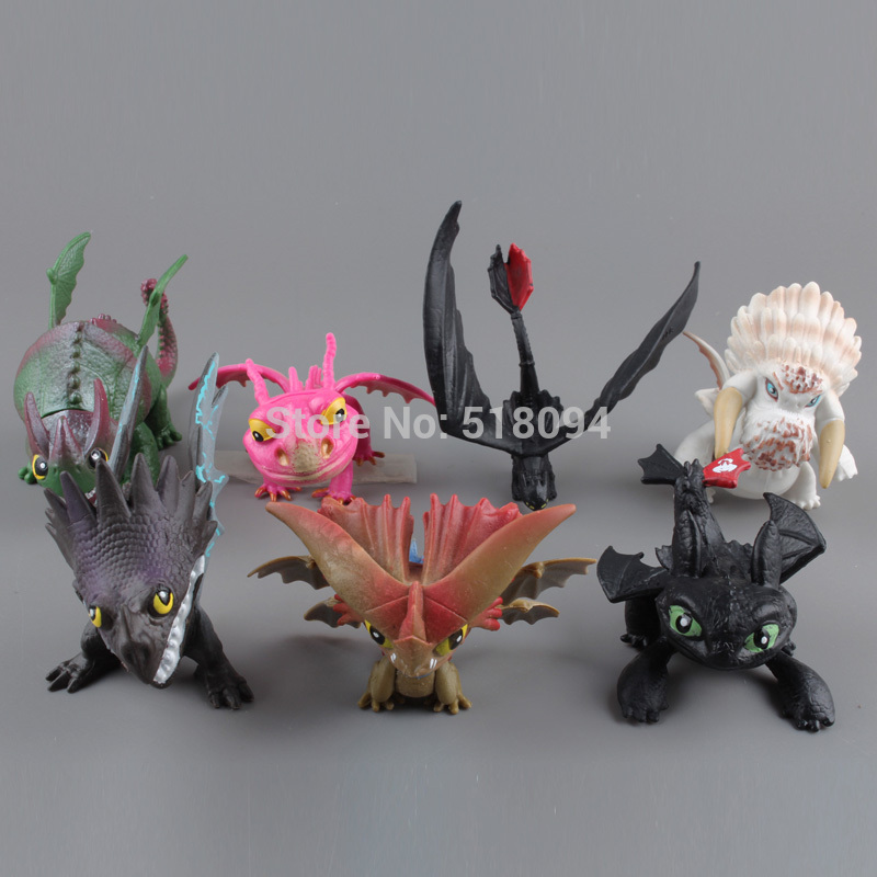 How to Train Your Dragon 2 Dragon Toys Night Fury Toothless PVC Action Figure Toys Dolls 7pcs/set Free Shipping DSFG170 free shipping synthetic blonde ponytail how to train your dragon 2 heroine astrid cosplay wig