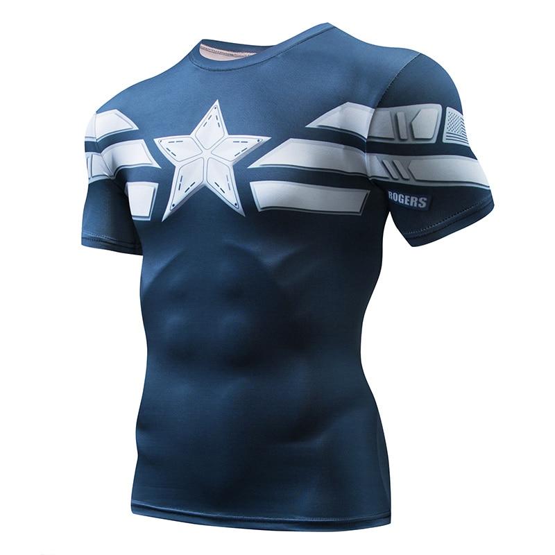 2018 New Men GYM  T-shirt Superman T Shirt Men Fitness Short Sleeve Compression Shirts Gym T Shirt Fitness Sport Shirt