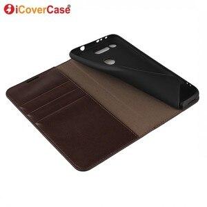Image 4 - Huawei honor view 20 케이스 coque 용 지갑 커버 huawei honor view 20 v20 핸드폰 액세서리 용 고급 정품 가죽 케이스