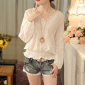 New Women Casual Basic Autumn Spring Lace Chiffon Blouse blusas Elegant Top Shirt Loose OL White Full sleeves Plus Size