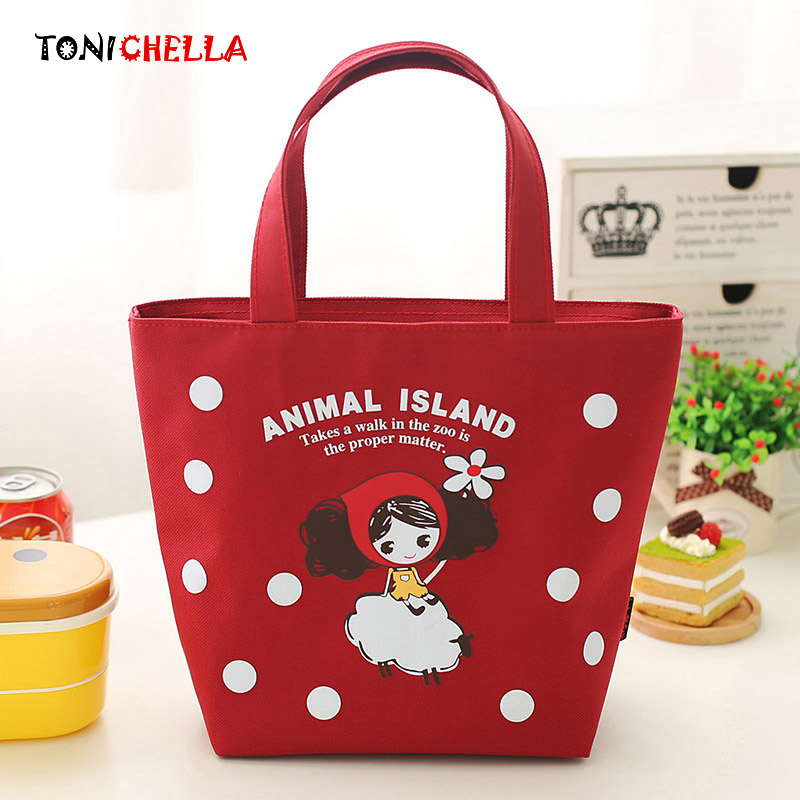 Baby Milk Bottles Insulation Bag Cute Cartoon Portable Canvas Kids Newborn Lunch Food Warmer Outdoor Travel Thermal Bags CL5466
