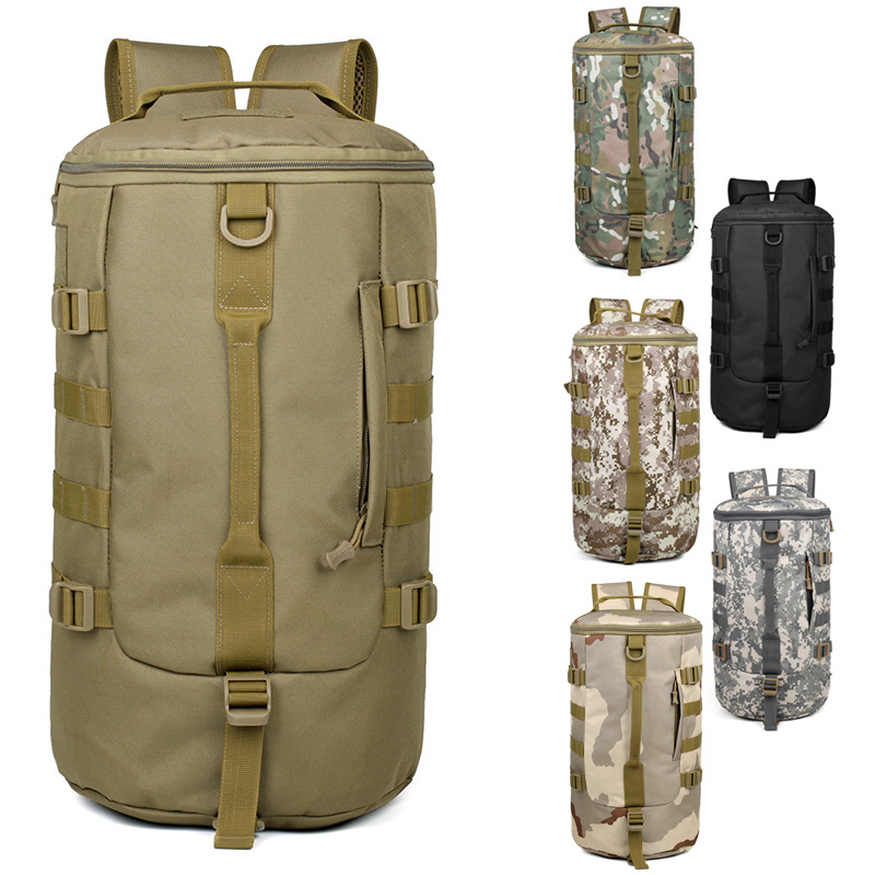 Large Capacity Outdoor Army Hiking Camping Climbing Travel Bag Tactical Rucksack Military Backpack Sports Shoulder Bucket Bag outdoor camo tactical backpack men rucksack waterproof knapsack travel weekend hiking camping backpacks large capacity bag