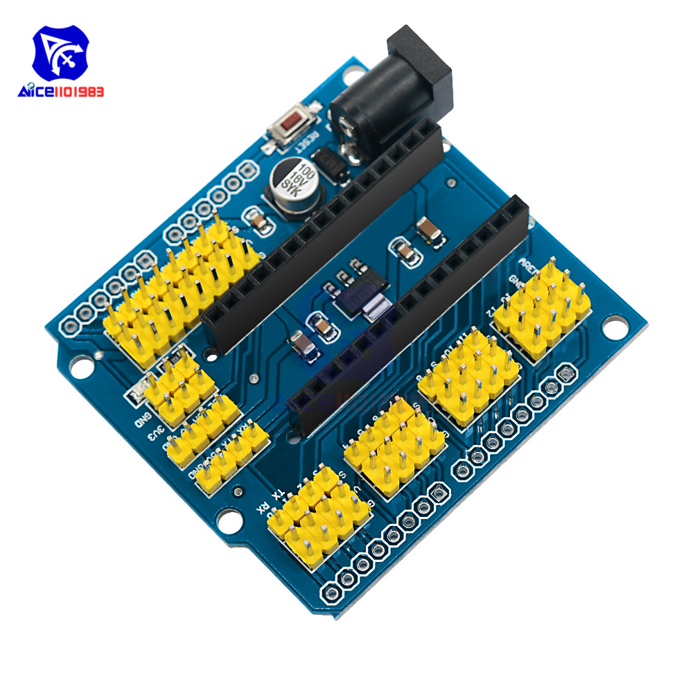 NANO I / O Expansion sensor Shield Module for Arduino UNO R3 Nano V3.0 dial vision adjustable lens eyeglasses