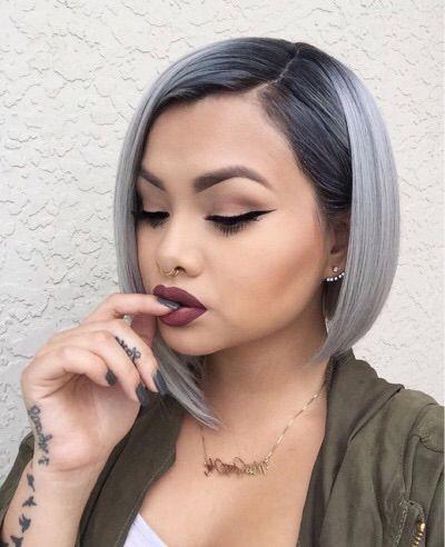 Pelo corto gris con negro