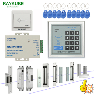 Image 1 - RAYKUBE RFID Access Control System Kit Set Mit Elektronische Schloss Passwort Tastatur & RFID Reader DIY Kit Für Tür Sicherheit