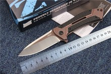 Newest ZT folding knife tactical camping knives EDC tool D2 blade bearing system survival knife 0801CF high quality