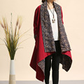 Spring Autumn Folk Style XXXLdust coat reversible cotton linen trench coat cardigan Windbreaker Cloaks Fashion Casual Outwear