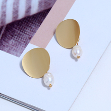 Bohopan New Design Summer Pendant Earrings For Women Classic Imitation Pearl Drop Earring Seaside Vacation Female Earrings 2019 bohopan shell shape pendant earrings for women elegant imitation pearl drop earrings fashion classic female earrings in jewelry