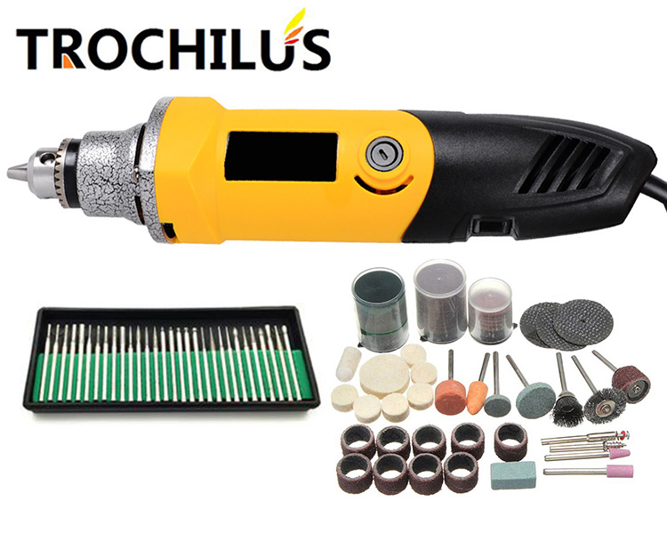 High quality Trochilus multi-function angle grinder 400W  rotating mini grinding machine electric engraving machine set high quality 240w power tools multi function mini grinding machine variable speed polishing electric engraving machine kit