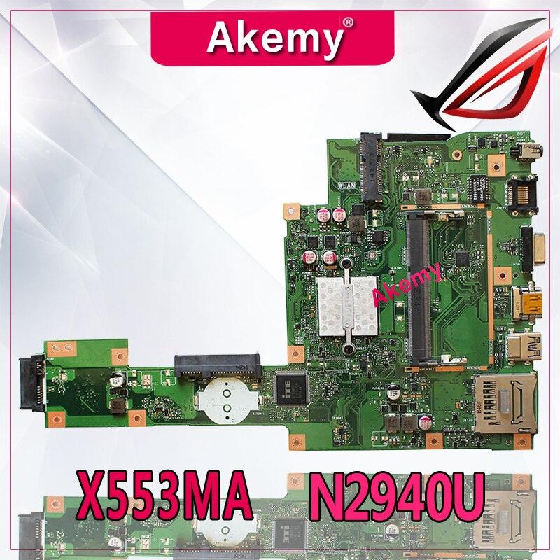 Akemy X553MA With N2940U Mainboard REV2 0 For ASUS F503M X503M F553MA X503MA D503M Laptop Motherboard
