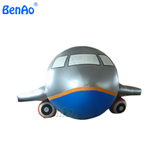 AO002  4m Popular advertising plane, inflatable helium balloon air plane/airship/blimp/zeppelin