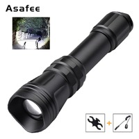 Asafee B168 Hunting Flashlight LED Cree XM L2 U4 Zoomable RED GREEN White Tactical Flashlight Torch w Gun Mount Remote Switch