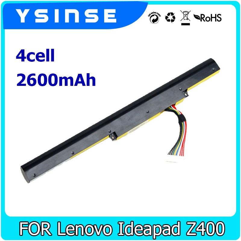 YSINSE 2600mAh Laptop Battery For Lenovo Ideapad Z400 Z500 Z500A P500 P400 Z410 Z510 Erazer Z500A Z400A Touch L12L4K01 L12M4E21 laptop keyboard for lenovo ideapad z510 z510 touch arabic ar 25213605