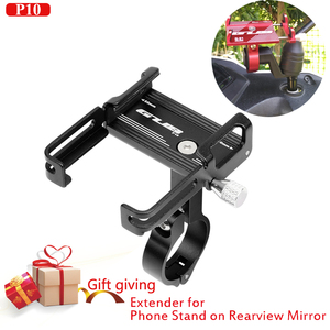 """Image 1 - moto Bike Mobile Phone Holders Stands Bike bicycle motorcycle Mobile phone holder aluminium GUB P10 for 3.5""""to7.5"""" Smartphones"""