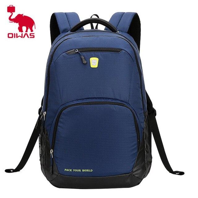 Oiwas 24L Leisure Style Laptop Business Men Backpack Waterproof  Shock-resistant School Backpack Multi- ef4bc4591a