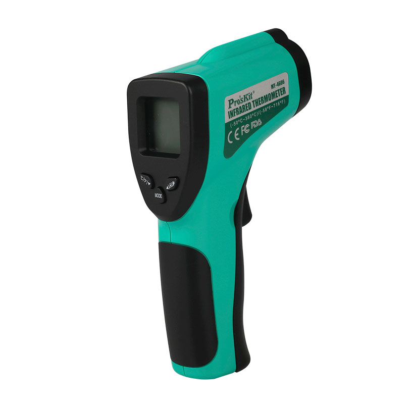 ELECALL MT-4606-C Auto Off LCD Display Non-contact Digital Laser Infrared Thermometer IR High Temperature Gun Tester 2pcs digital infrared thermometer non contact lcd ir laser temperature tester gun wholesale