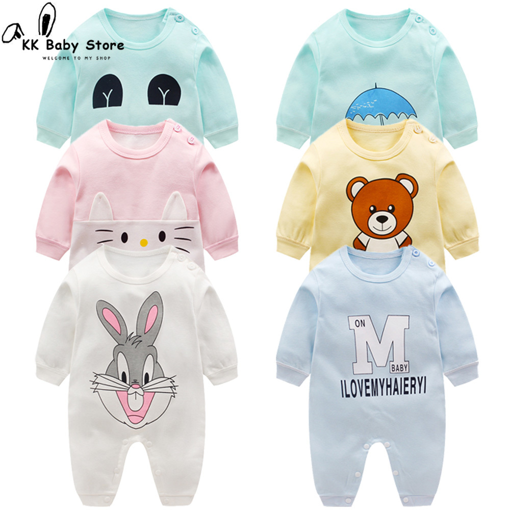 Newborn Baby Clothes Cotton Long Sleeve Spring Autumn Baby   Rompers   Soft Infant Clothing Toddler Baby Boy Girl Jumpsuits