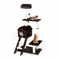 RU Быстрая доставка CatToys Дерево Кондо скребок восхождение мебель для Котенок Дом гамак с Когтеточка и игрушки