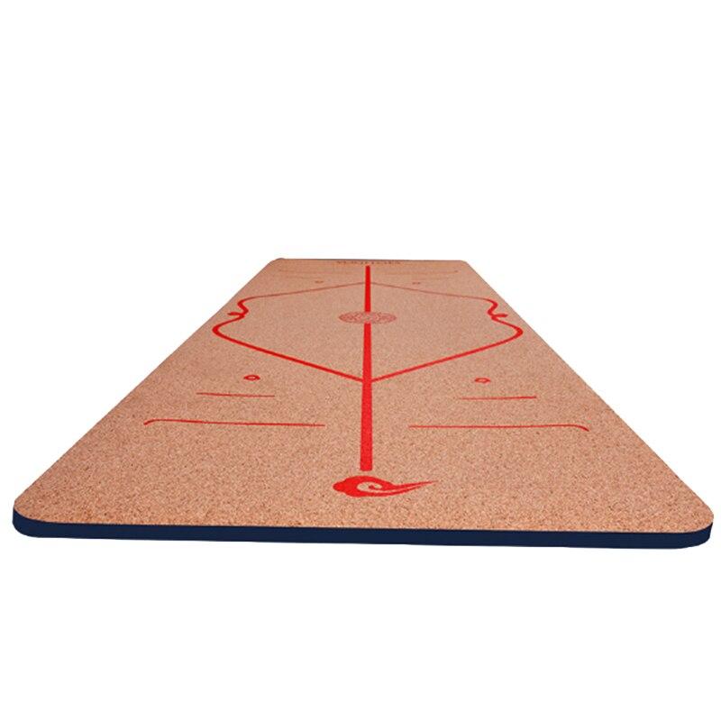 Tapis de Yoga Liège et Caoutchouc Naturel, Plus La Taille 183*65 cm Antidérapant Exercice et Pilates Odeurs Sueur Tapis 6mm Tapis De Yoga En Caoutchouc Naturel