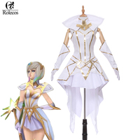ROLECOS Brand LOL The Lady Of Luminosity Luxanna Crownguard Cosplay Costume Light Element Skin Cosplay Costume