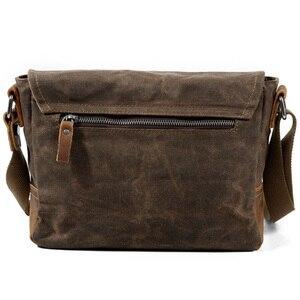 Image 4 - ABDB Crossbody erkek omuzdan askili çanta su geçirmez kanvas çanta erkek rahat askılı çanta