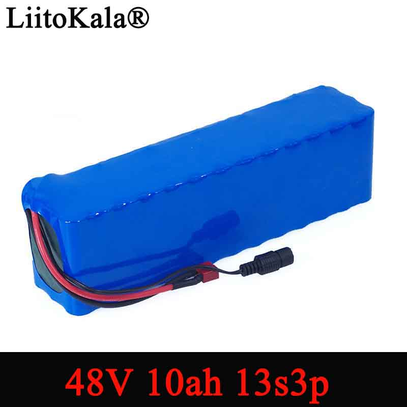 LiitoKala e bike battery 48v 10ah 18650 li ion battery pack bike conversion kit bafang 1000w 54.6v-in Battery Packs from Consumer Electronics