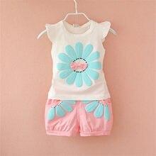 Ensemble de vêtements d'été pour petites filles | Ensemble de vêtements pour enfants filles, gilet + short, costume 2 pièces, pour enfants filles