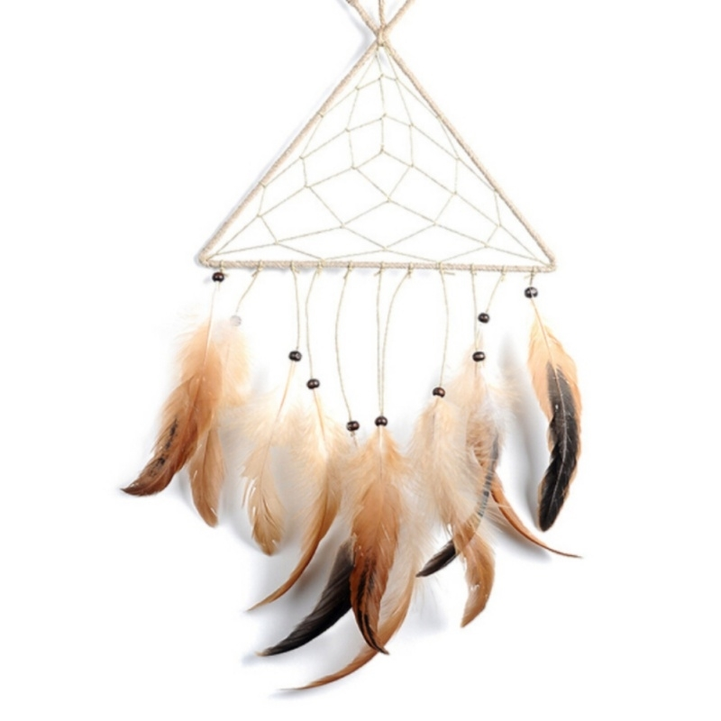 Mini Dream Catcher Handmade Dream Catcher Decor with Feathers Bead Home Office Wall Car Door Yard Garden Decoration For Home