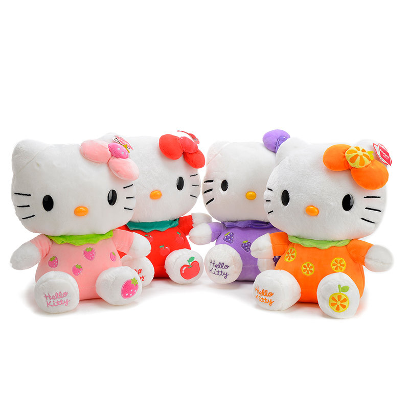 Anime Plush Sitting Height 30cm Fruit style Hello Kitty Plush Toys Super Lovely Baby Doll Classic Toys For Girls Kids Gift