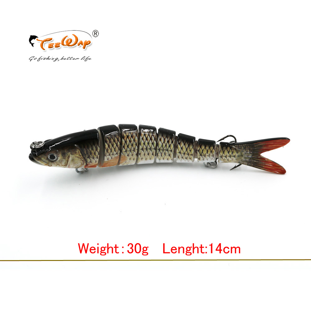 13.7cm 27g Sinking Wobblers 8 Segments Fishing Lures Multi Jointed Swimbait Hard Bait Fishing Tackle For Bass Isca Crankbait