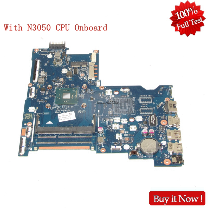 NOKOTION For HP 15-AC Series laptop motherboard 816433-501 ABQ52 LA-C811P With SR29H N3050 CPU Onboard nokotion original 815249 501 815249 001 laptop motherboard for hp 15 ac cpu abq52 la c811p mainboard works